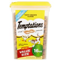 TEMPTATIONS Classic Treats for Cats Tasty Chicken Flavor 16 Ounces