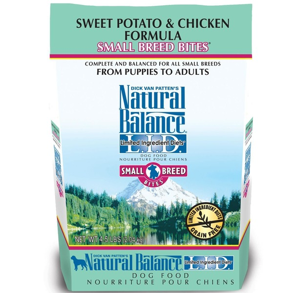 Natural Balance L.I.D. Limited Ingredient Diets Sweet Potato & Chicken Small Breed Bites Dog Food