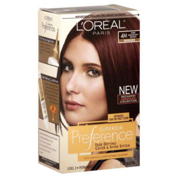 Superior Preference Warmer 4M Dark Mahogany Brown Hair Color