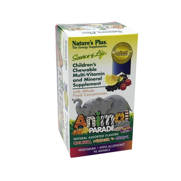 Nature's Plus Animal Parade Children's Chewable Multi Vitamin And Mineral Supplement Assorted Flavors Chewable Tablets