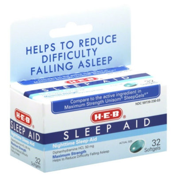 H-E-B Sleep Aid Soft Gels