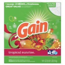 Gain Powder Laundry Detergent, Tropical Sunrise, 95 Loads, 141 Oz