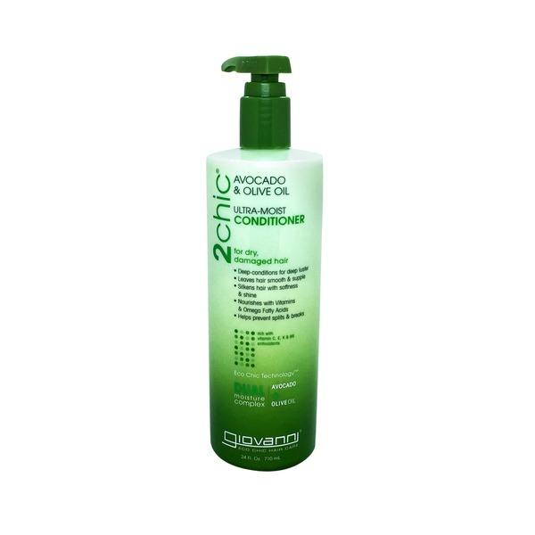 Giovanni Avocado & Olive Oil Ultra-Moist Conditioner for Dry, Damaged Hair