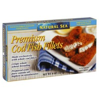 Natural Sea Premium Cod Fillets with Multigrain Breading - 4 CT