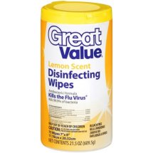 Great Value Disinfecting Wipes, Lemon, 75 Wipes