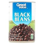 Great Value Black Beans, 15.25 oz