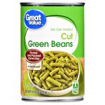 Great Value Cut Green Beans, No Salt Added, 14.5 oz