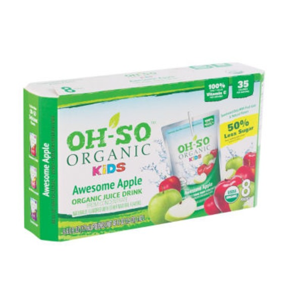 Oh So Organic Kids Apple Juice Pouches