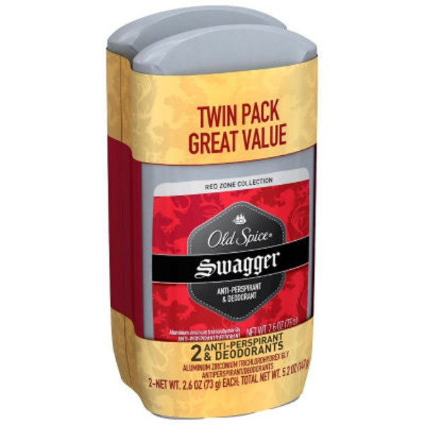 Old Spice Red Zone Collection Invisible Solid Swagger Twin Pack Anti-Perspirant/Deodorant