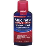Mucinex Sinus-Max Night Time Congestion & Cough Maximum Strength Liquid, 6.0 FL OZ