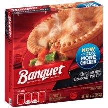 Banquet Chicken and Broccoli Pot Pie, 7 oz