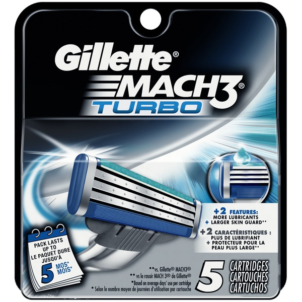 Gillette MACH3 Turbo Men's Razor Blade Refills
