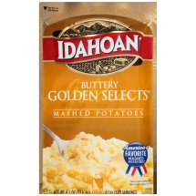 Idahoan Buttery Golden Selects Mashed Potatoes, 4 (1/2 cup) servings