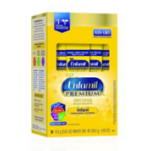 Enfamil PREMIUM Infant Formula, Powder 0.62 Ounce Single Serve Sticks, 16 Pack