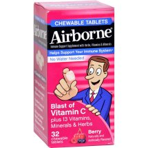 Airborne Berry Chewable Tablets with Vitamin C, 32 Ct