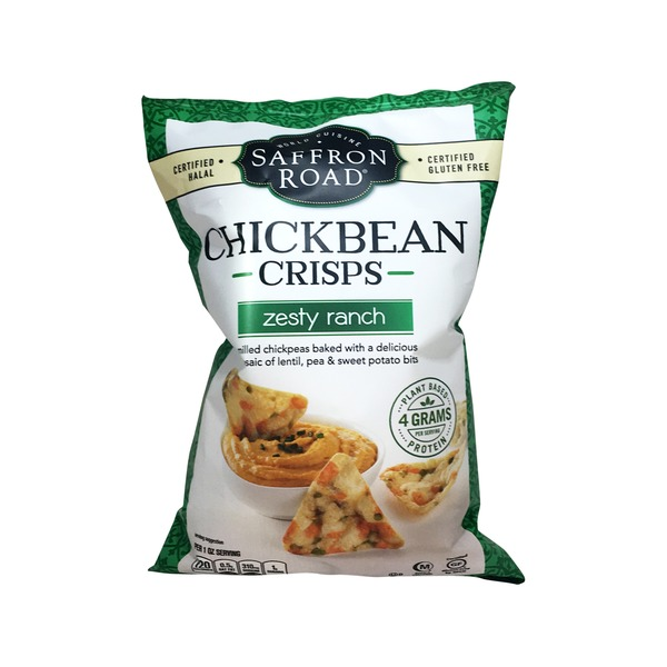 Saffron Road Chickbean Crisps Zesty Ranch