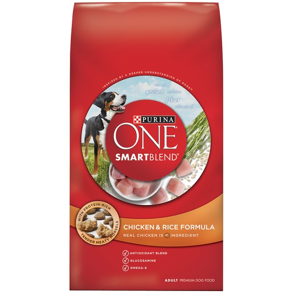 Purina One Dog Dry SmartBlend Chicken & Rice Formula Adult Dog Food
