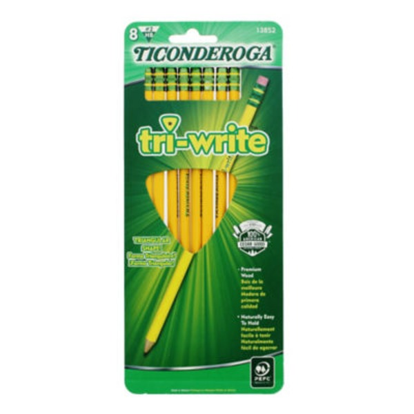 Ticonderoga Noir Tri Write Number 2 Pencils