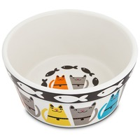 Harmony Tough Guys Ceramic Cat Bowl 3