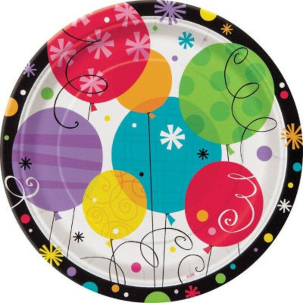 Party Goods Breezy Birthday 7 Inch Plate