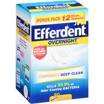 Efferdent PM Overnight Anti-Bacterial Denture Cleanser