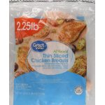 Great Value Thin Sliced Chicken Breasts, 2lbs