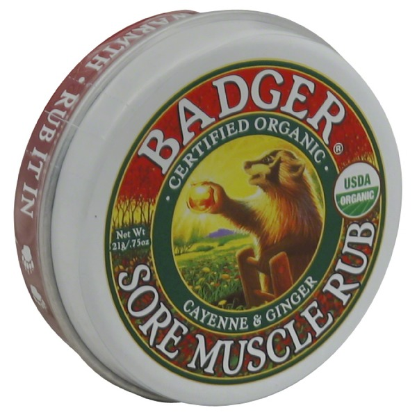 Badger Certified Organic Original Blend Cayenne & Ginger Sore Muscle Rub