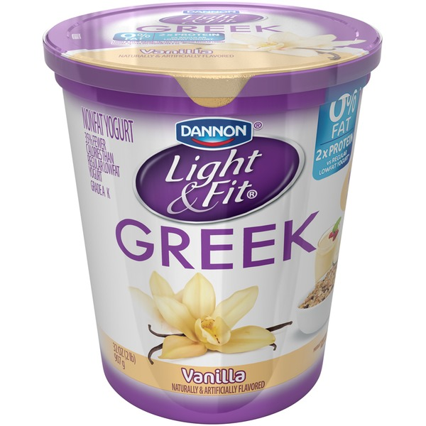 Dannon Light & Fit Greek Vanilla Nonfat Yogurt