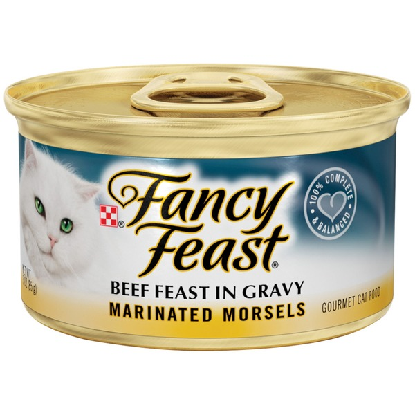 Fancy Feast Wet Marinated Morsels Beef Feast in Gravy Cat Food