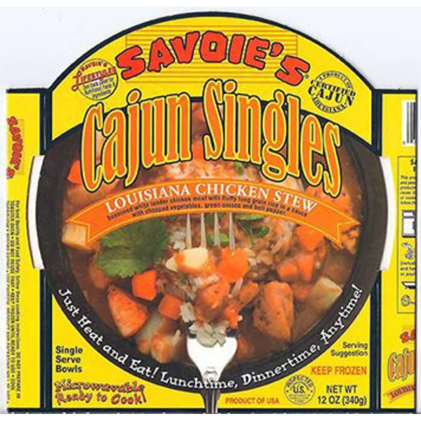 Savoie's Louisiana Chicken Stew, Single Serve