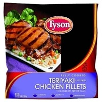 Tyson Fully Cooked Grilled Teriyaki Chicken Fillets