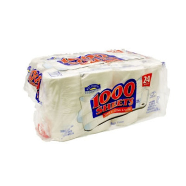 Hill Country Essentials 1000 Sheets Bath Tissue