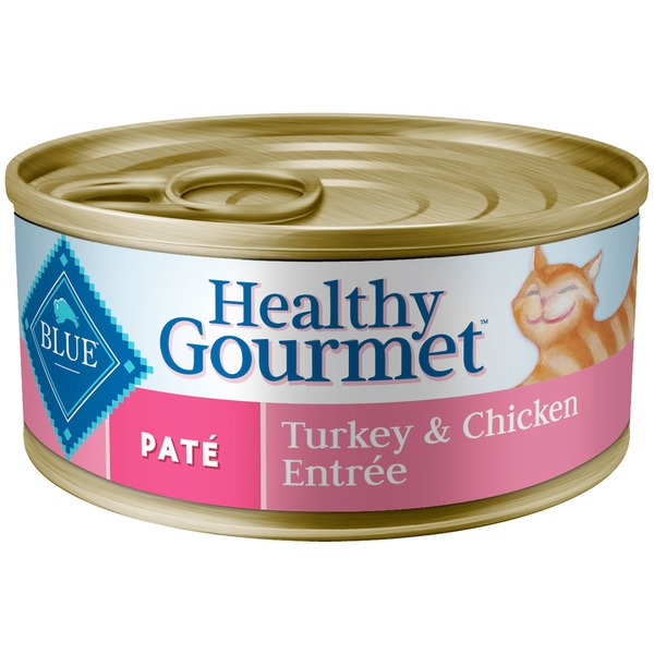 Blue Buffalo Cat Food, Moist, Healthy Gourmet, Pate, Turkey & Chicken Entree, Can