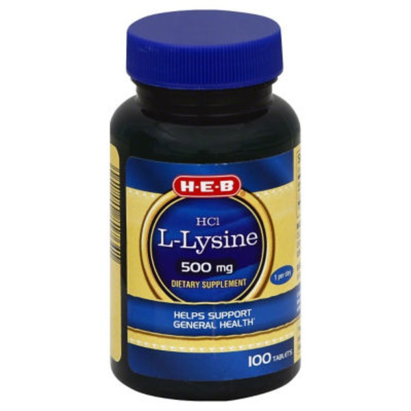 H-E-B L- Lysine H Cl 500 Mg Tablets