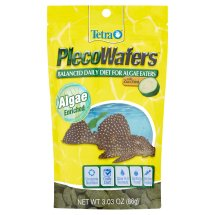 Tetra Tetraveggie Tropical Algae Wafers for Plecostomus Fish and Bottom Feeders, 3.03 oz