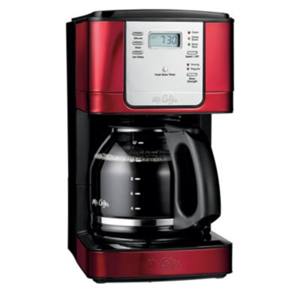 Mr. Coffee 12 Cup Red Programmable Coffee Maker