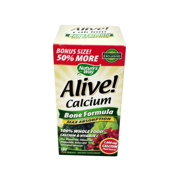 Nature's Way Alive! Calcium Bone Formula Dietary Supplement
