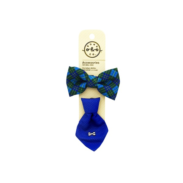 Bond & Co 2 Pk Bowtie Tie Set Blue
