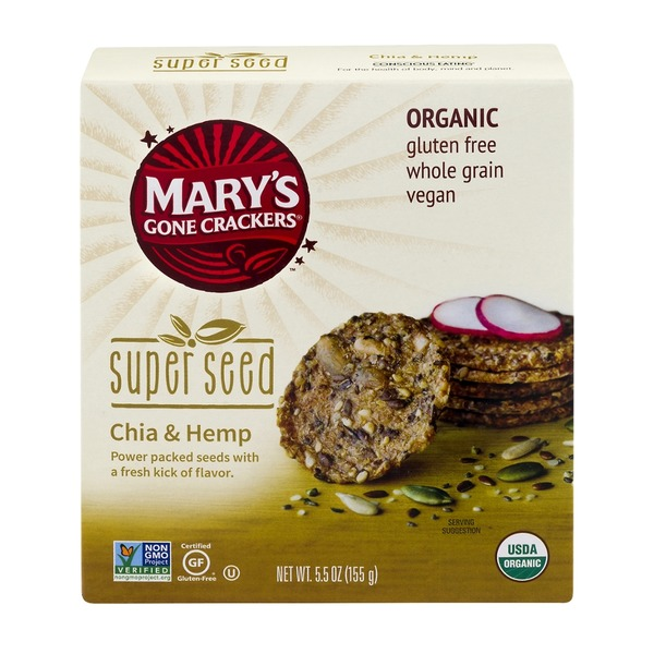 Mary's Gone Crackers Super Seed Crackers Chia & Hemp