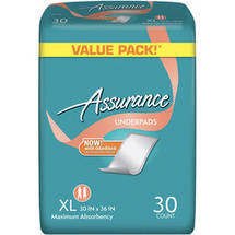 Assurance Maximum Absorbency Underpads Extra Large