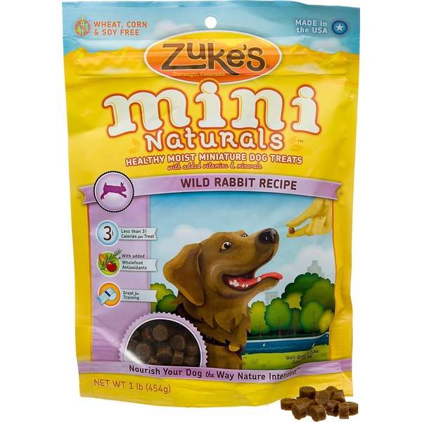 Zuke's Mini Naturals Wild Rabbit Formula Dog Treats