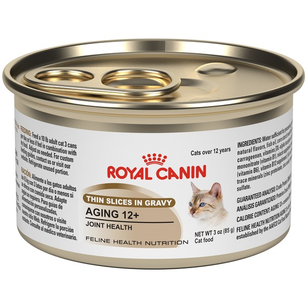 Royal Canin Feline Health Nutrition Aging 12+ Thin Slices in Gravy Cat Food