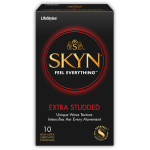 LifeStyles Skyn Extra Studded Lubricated Non Latex Condoms - 10 ct