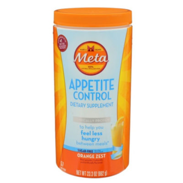 Meta Biotic Appetite Control Meta Appetite Control Dietary Supplement, Sugar-Free Orange Zest, 57 servings Laxative