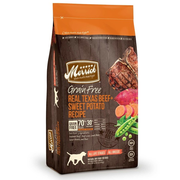 Merrick Grain Free Real Texas Beef & Sweet Potato Dog Food 4 Lbs.