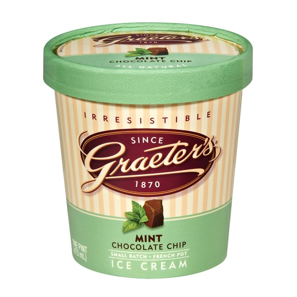 Graeter's Handcrafted French Pot Ice Cream Mint Chocolate Chip