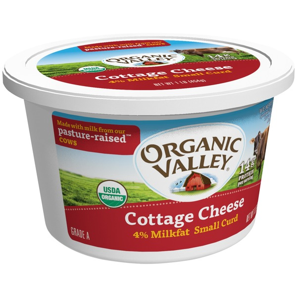 Organic Valley Small Curd 4% Milkfat Cottage Cheese