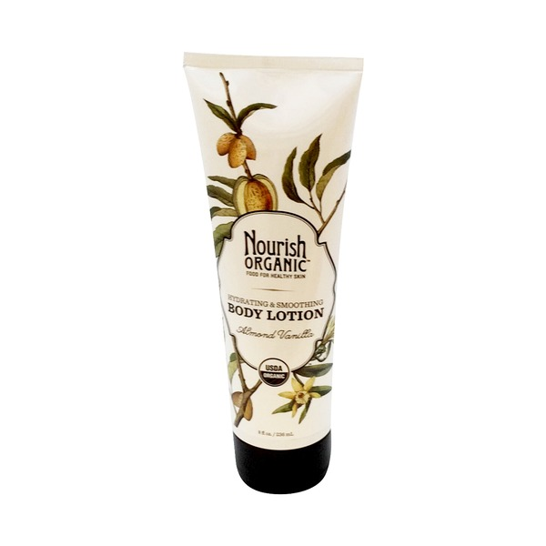 Nourish Organic Body Lotion, Hydrating & Smoothing, Almond Vanilla