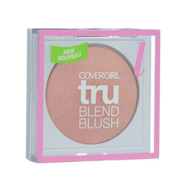 CoverGirl TruBlend COVERGIRL truBlend Baked Powder Blush, Light Rose 0.1 oz (3.0 g) Female Cosmetics