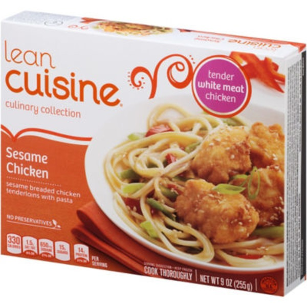 Lean Cuisine Marketplace Sesame breaded white meat chicken tenderloins with pasta and vegetables Sesame Chicken